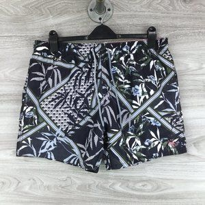 Ted Baker Floral Print Swim Trunks with Pockets